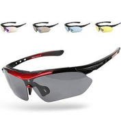 Outdoor Sports Cycling Running Sunglasses Polarised UV400 Exchangeable 5 Lenses