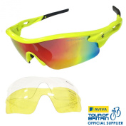 VeloChampion Warp Cycling Running Sports Sunglasses - (with 3 lens