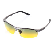 LEIDISEN Men's Driving Sunglasses Night Vision Glasses Running Cycling UV400 Polarised Goggles