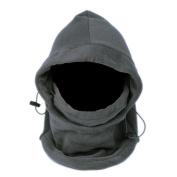 Multifunction Unisex Soft Thermal Fleece Balaclava Hood - Grey