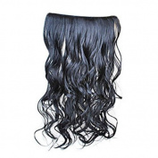 fitTek Wig Clip On Curly Curls Wavy Synthetic Hair Extensions Bouncy Thicken Weft Hairpiece One Piece Thicken