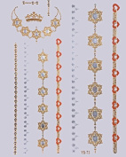 GOLDEN Tattoo Flash Tattoos, Tattoos for Girl, One time tattoos Ornamente Crown Bracelets also RED YS-73 - LK Trend & Style