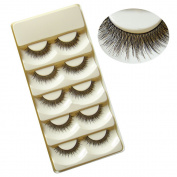 Beautiful 5 Pairs Handmade False Eyelashes Eye Lashes Extension Makeup Tool