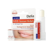 Delia Lip Balm SOS Instant Relief for Damaged Lips - For treating very damaged lips. Paraben Free