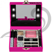 Pink Cosmetic Filled Mini Light Up Make up Set Case