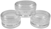5ml Empty Plastic Cosmetic Jars x 10 CLEAR with CLEAR Lids for Creams/Sample/Make-Up/Glitter Storage