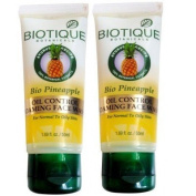"2 Pack X Biotique Bio Pineapple Oil Control Face Wash (50ml) - - ""Shipping by FEDEX/DHL"""