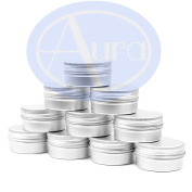 PACK of 25 - 15ml Aluminium LIP BALM Tins.