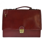 CTM Unisex's Business Bag, Briefcase in genuine leather made in Italy D7003 - 38x28x12 Cm