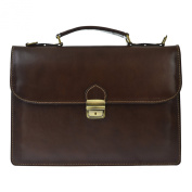 CTM Unisex's Business Bag, Briefcase in genuine leather made in Italy D7004 - 38x27x7 Cm
