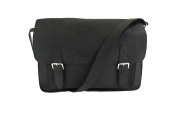 Fly 53 Hendrix Black Leather Satchel