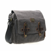 TRP0372 Troop London Heritage Canvas Messenger Bag with Organiser and Padded Compartment for Tablet