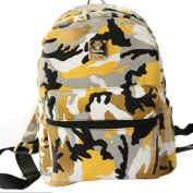 Brooke & Celine Designers Men Women Camouflage Yellow Colour Fashion Backpacks