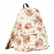 Clayre Eef BAG122N & Rucksack Flower Natural approx. 27 x 39 x 15 CM