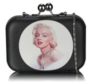 Marilyn Monroe Print Boxed Clutch Bag (15cm x 10cm ) with PreciousBags DustBag