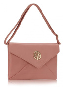 Large Flapover Gold Acents Clutch Bag (36cm x 23cm ) with PreciousBags DustBag