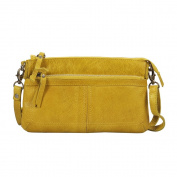 Vilenca Holland 40679 Yellow crossbody bag, sling bag, small ladies bag, shoulder bag - 24.5x15x3cm (LxWxH) ...