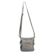 VILENCA HOLLAND 40746 grey Ladies Shoulder Bag/ leather sling bag L22cmxH23cmxB4cm ...
