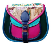 NEW BOHO HANDMADE DESIGNER REAL LEATHER HIPPY SATCHEL SADDLE TABLET HOLDER BAG RETRO VINTAGE