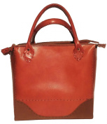 Kilaccessori - Shopper bag calfskin and suede leather. 100% italian leather