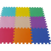 18 PC Interlocking Kids Soft EVA Foam Activity Play Mat Set Floor Tiles