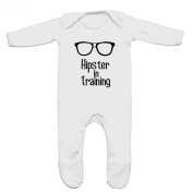 Hipster In Training Baby Romper Sleep Suit