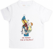"RIGOLOBO T-shirt, ""Ma maman est la plus belle"" Boys-WHITE"
