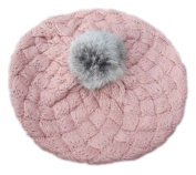 [Sakura] Soft Winter Plush Ball Hat Warm Wool Cap/Hat For 1-6 Years, pink