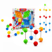 Fajiabao Birthday Gifts for Kids 36 Pcs Children's Boys Girls Mushrooms Nails Multivariant Creative Assembles Toy Educational Toys Ball Blocks Puzzle Changeable Toy