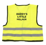 Kids Hi-Viz Neon Green Little Helper Printed Hi-Visibility Safety Vest Waistcoat
