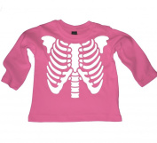 SKELETON RIB CAGE- stylish cool baby long sleeved organic t-shirt, top