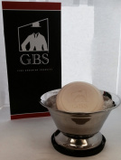 Large Stainless Shaving Bowl with GBS Ocean Driftwood 90ml Soap