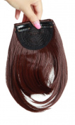 20cm Dark Auburn One Piece Straight Bang Clip in on Bangs Fringe Hair Extension Extensions Fashion Womens Girls Choice