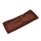 Knot Plain Headband, Brown