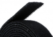 Monoprice Fastening Tape 1.9cm One Wrap Hook & Loop Fastening Tape 5 yard/Roll - Black