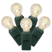 Vickerman 50 Count Single Mould G12 Berry LED-Green Wire, Warm White