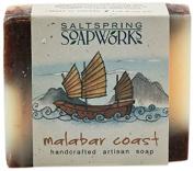 Saltspring Soapworks All Natural Artisan Soap Bar, Malabar Coast, 120ml