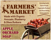 Farmers market Natural Bar Soap, Apple Orchard 160ml