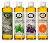 Castile Soap Variety Pack - 4 - 240ml bottles - Carolina Castile
