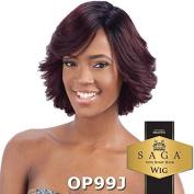 SAGA 100% Remy Human Hair Wig - LAVENDER (1B - Off Blk) by SAGA