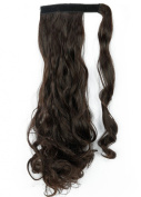 Sexybaby Clip in Hair Extensions Wrap Around Ponytail Synthetic 43cm Curly