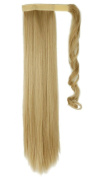 Wrap Around Synthetic Ponytail One Piece Heat Resistant Magic Paste Pony Tail Long Straight Soft Silky for Women Lady Girls 60cm / 60cm