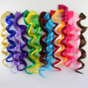 Liaohan® Colourful Hair Long Curly Clip in Hair Extensions Highlight Hair Coloured Clip on Hairpieces 20pcs/Lot