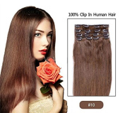 Keepyonger 2015 Best Selling 38cm 70 Gramme Virgin Remy Hair Clip In Human Hair Extensions Full head Set 26 Colours available free shipping