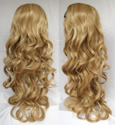 Liaohan® Fashion Highlights Brown Blonde Wig Fall 60cm Long Curly Hair Fall Synthetic Half Wigs for Women 27H613
