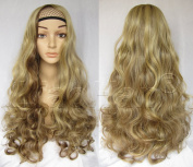Liaohan® Fashion Highlights Full Wig 60cm Long Curly Brown Wig Synthetic Wigs for Women #22H10