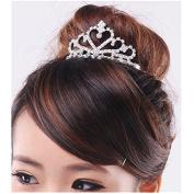 Bride Wedding Rhinestone Crown Hair Comb Tiara Diamante Headband by 24/7 store