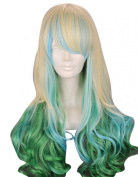 TopWigy Long Wavy Multi-Colour Hair Cosplay Party Wig