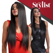 The Stylist Synthetic Lace Front Wig Hand-Tied Curved Part Super Natural Straight