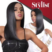 The Stylist Synthetic Lace Front Wig Hand-Tied Curved Part Impeccable Blunt